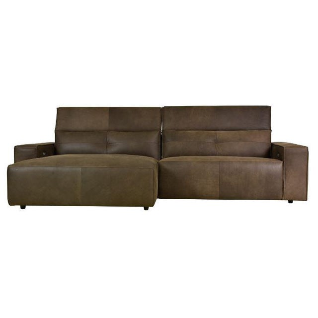 Leather Kenneth Lugwig Davis Top Grain Leather Sectional For Sale - Image 7 of 7