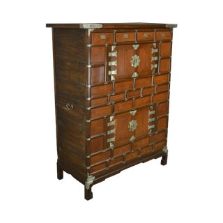 Antique 19th Century Korean Chest Storage Cabinet For Sale