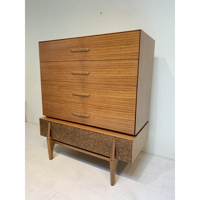 John Keal for Brown Saltman Mid Century Modern Tallboy Chest of Drawers For Sale - Image 13 of 13