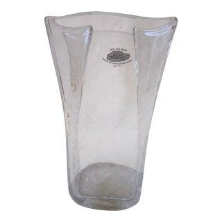 Blenko Crackle Glass Vase