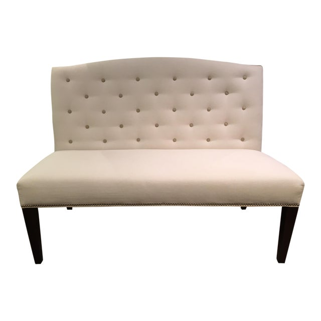 Buttoned Camel Back Banquette - Image 1 of 4