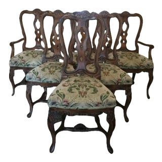 1970s Louis XV Rococo Style Dinning Chairs - Set of 6 For Sale