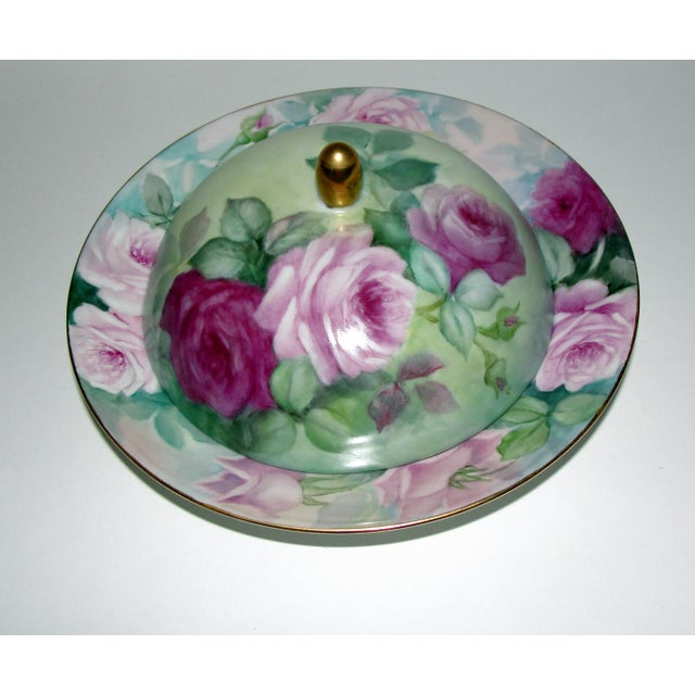 Limoges France Covered Butter Dish & Porcelain Dome Cover - Image 2 of 8