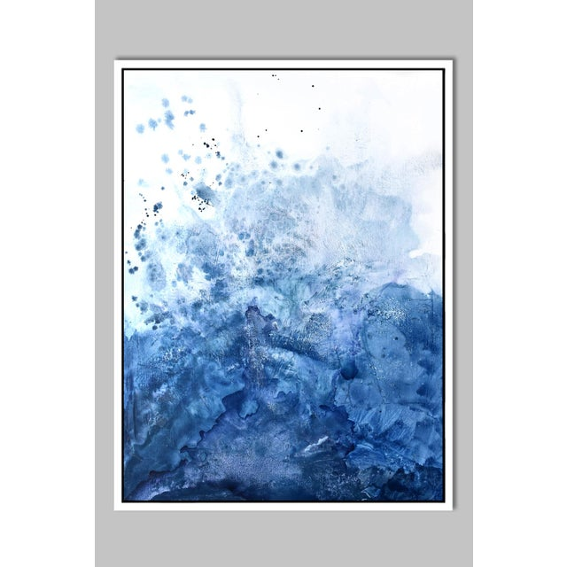 Blue Salt Watercolor Framed Giclée Print 30 x 40 - Image 2 of 5