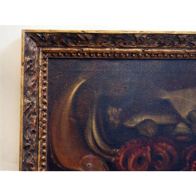 Traditional Late 19th Century Framed Sea Creature Still Life Oil Painting For Sale - Image 3 of 4