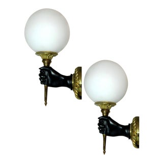 Vintage French Sconces by Andre Arbus For Sale