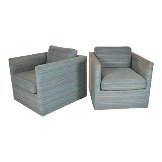 Pair of Cube Chairs by Charles Pfister for Knoll For Sale
