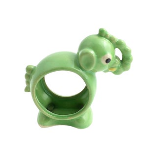 Deco Green Elephant Napkin Holder For Sale