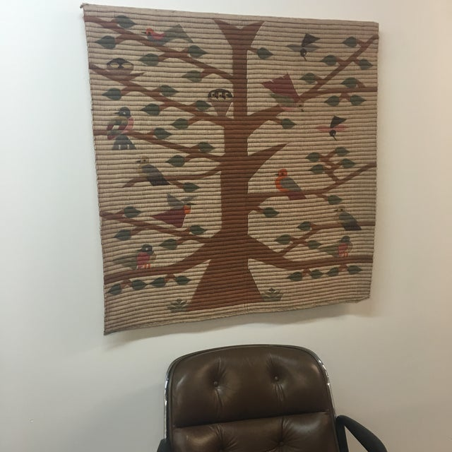 Vintage Tree of Life Wool Wall Hanging - Image 5 of 7
