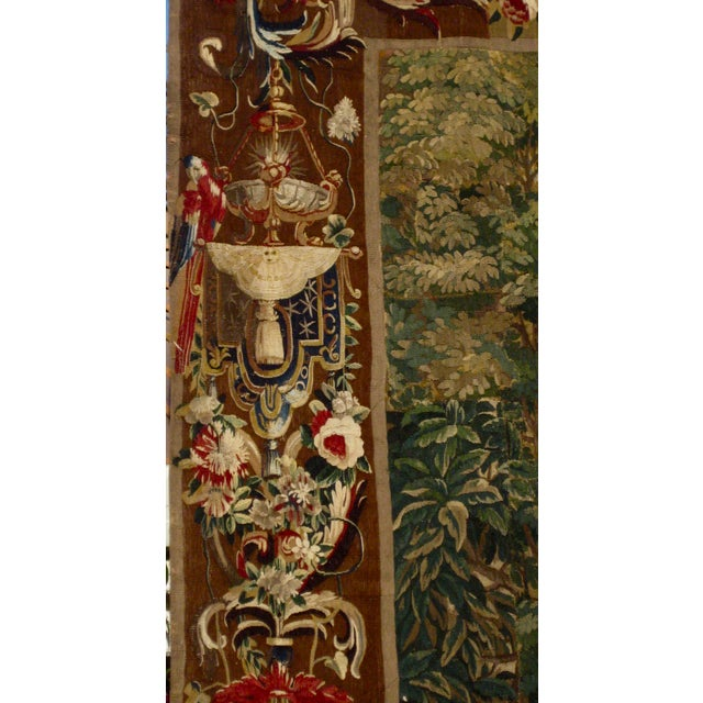 Red 1700s Beauvais Tapestry Wall Hanging For Sale - Image 8 of 13