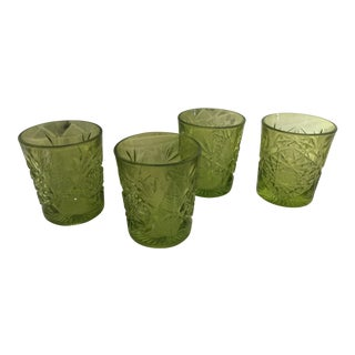 Contemporary Libbey Lime Green Glasses - Set of 4 For Sale