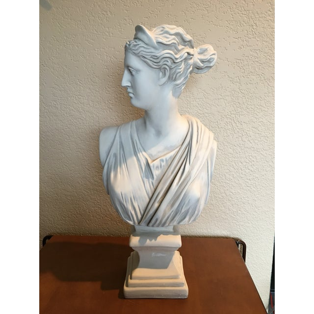 1980s Diana Goddess of the Hunt Large Scale Bust Sculpture For Sale - Image 10 of 10