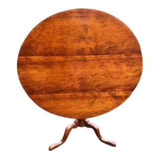 Mid 18th Century Queen Anne Cherry Birdcage Tilt Top Table For Sale