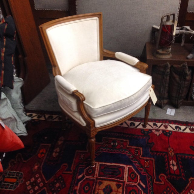 French Louis XVI Bergere Armchair - Image 2 of 4