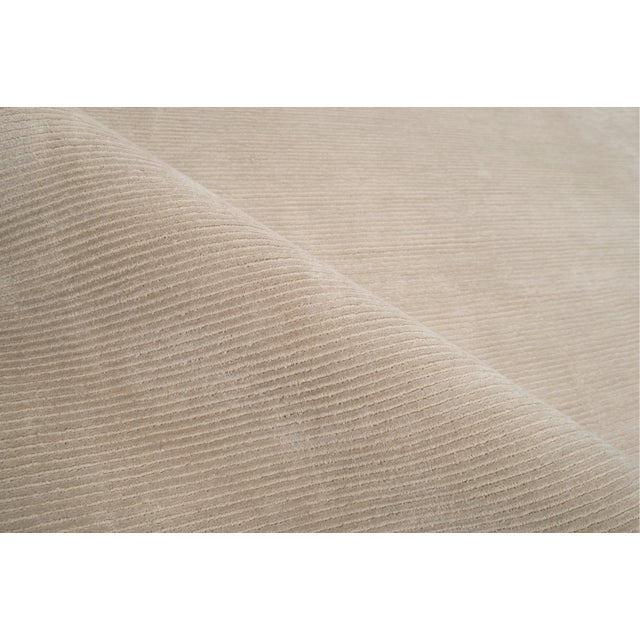 Contemporary Stark Studio Rugs Contemporary Oriental Silk and Wool Rug - 5' X 7' For Sale - Image 3 of 5