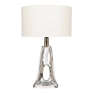 Daum France Crystal Table Lamp For Sale