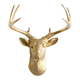 Gold Faux Head Mount Bust Mini Deer by Wall Charmers