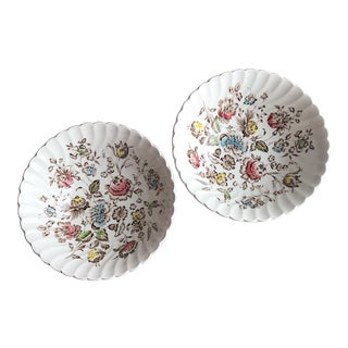 Staffordshire Bouquet Serving Bowls - A Pair