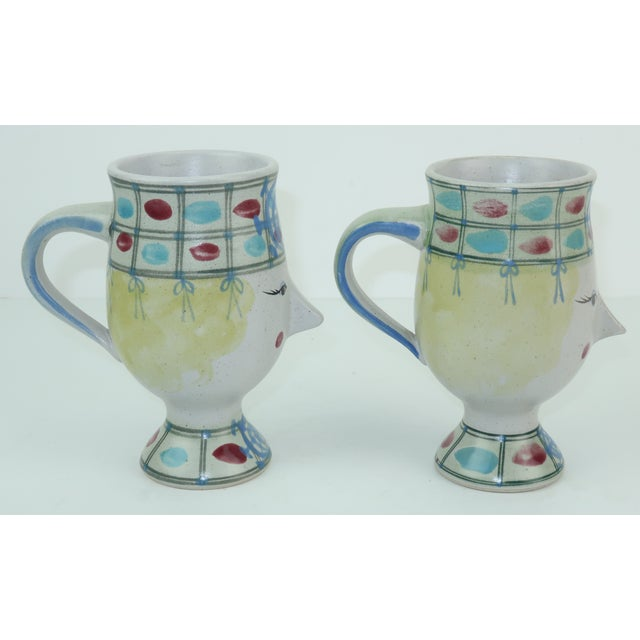 Fitz and Floyd Vintage Fitz & Floyd Figural Mugs Cups, a Pair For Sale - Image 4 of 11
