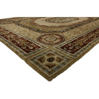 1960s Vintage French Aubusson Savonnerie Design Area Rug - 10′ × 14′ Preview