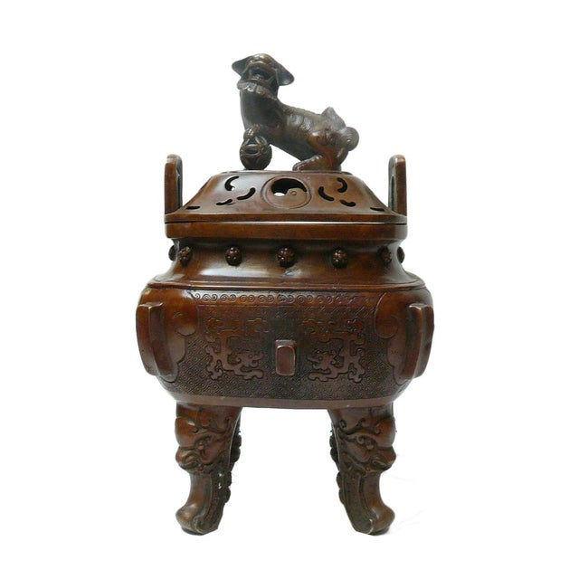 Chinese Metal Handcrafted Ding Incense Burner - Image 1 of 7