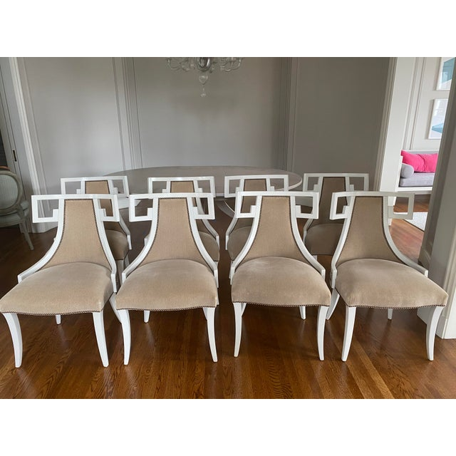Chic set of 8 dining chairs by Thomas Pheasant for Baker Furniture. Purchased at San Francisco Design Center apx.8 years...