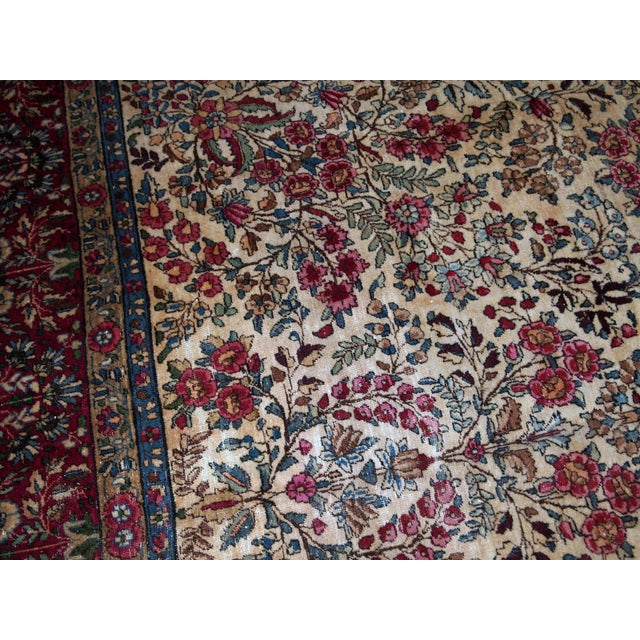 1900s, Handmade Antique Persian Kerman Lavar Rug 8.9' X 11.6' - 1b701 For Sale - Image 9 of 13