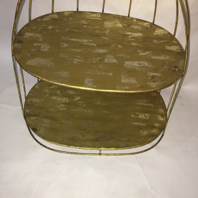 Shabby Chic Vintage Wire Display Form & Shelves Decor For Sale - Image 3 of 5