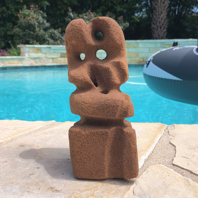 Abstract Abstract Modern Carved Signed Sandstone Sculpture For Sale - Image 3 of 12