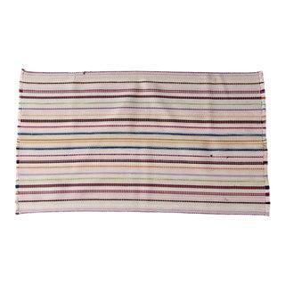 Vintage Striped Accent Rug For Sale