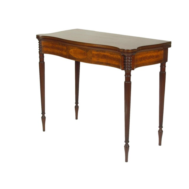 Traditional Late 19th Century Federal-Style Card Tables - a Pair For Sale - Image 3 of 13