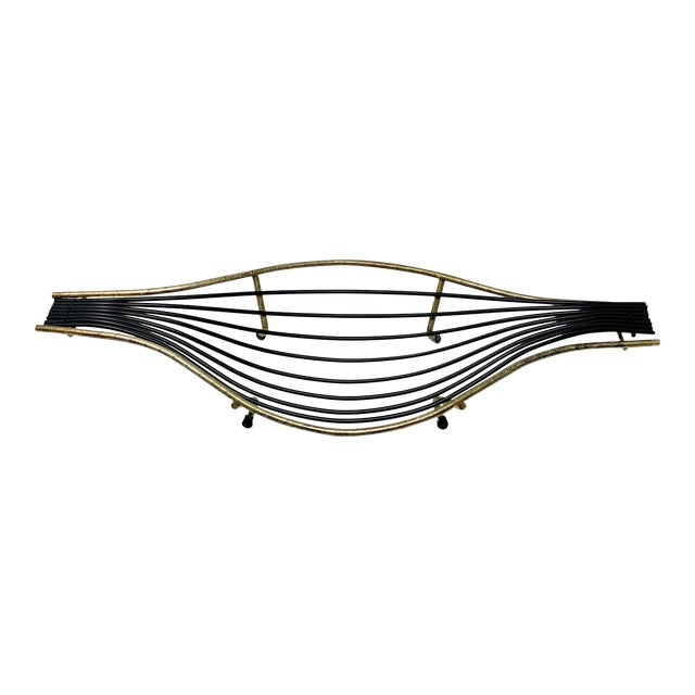 Mid-Century Sculptural Wire Bowl For Sale