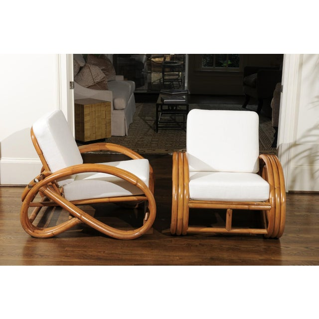 Pair of 1950s Restored Pretzel Loungers For Sale In Atlanta - Image 6 of 13