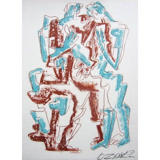 Ossip Zadkine Pencil Signed Original Lithograph, Haute Malerie 1968 For Sale