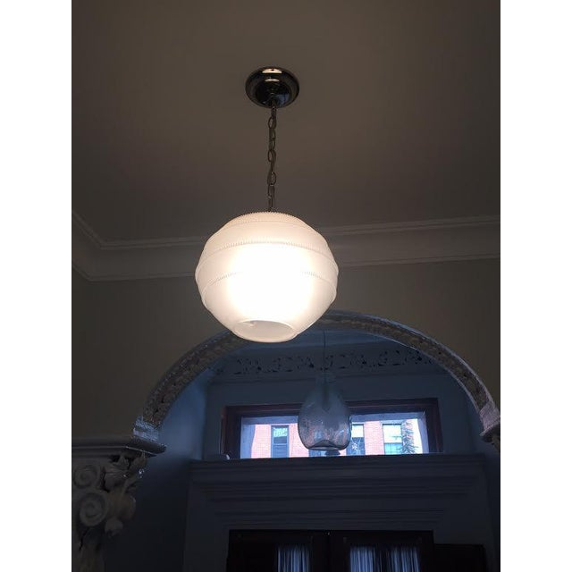 Juliska Amalia Frosted Globe Pendant Light - Image 3 of 6