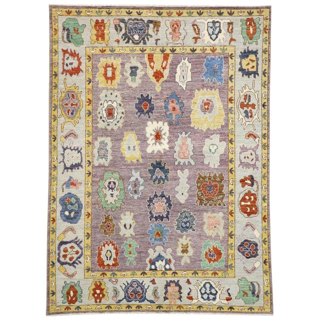 Contemporary Oushak Style Rug - 8′10″ × 12′2″ For Sale