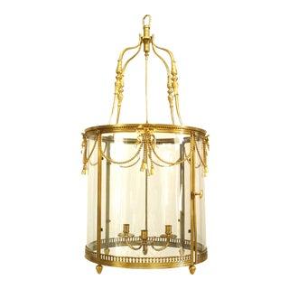 French Louis XVI Style Bronze Dore Lantern For Sale