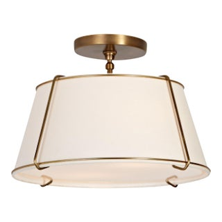 Modern Brass Flush Mount Ceiling Light For Sale