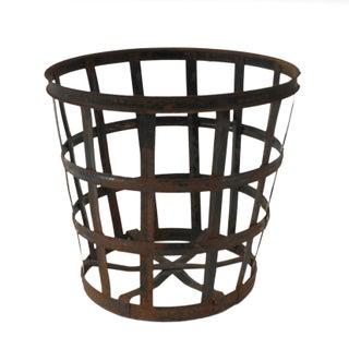 Vintage Metal Demi John Basket For Sale
