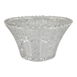 1920s Superior Cut Glass Bowl For Sale
