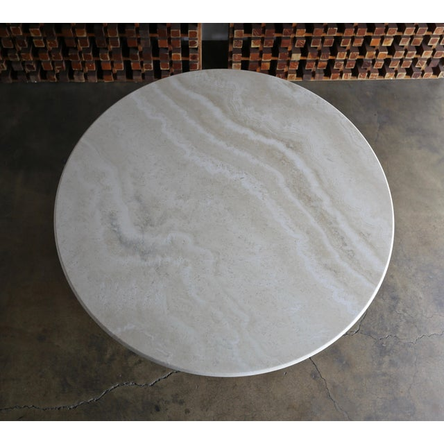 Modern 1980s Modern Style Travertine Centre Table For Sale - Image 3 of 9