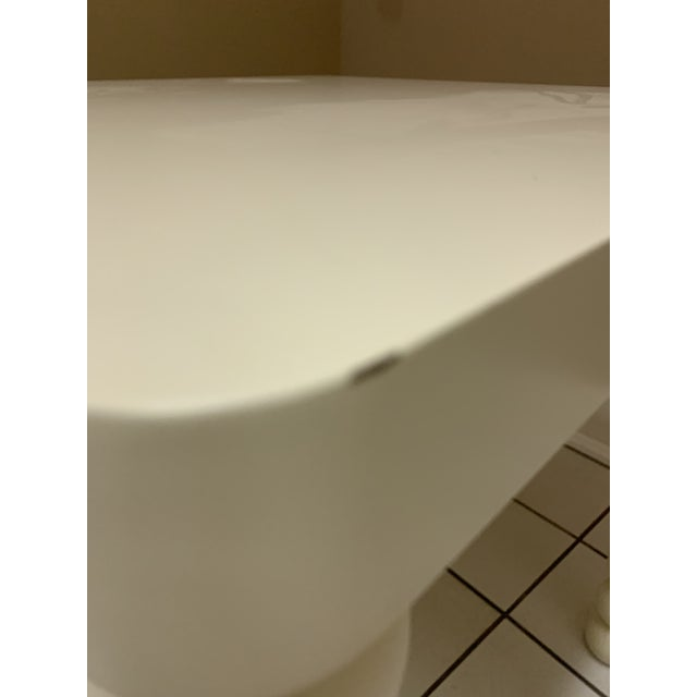 1970's Boho Chic Off-White Wood Side Table For Sale In Chicago - Image 6 of 11