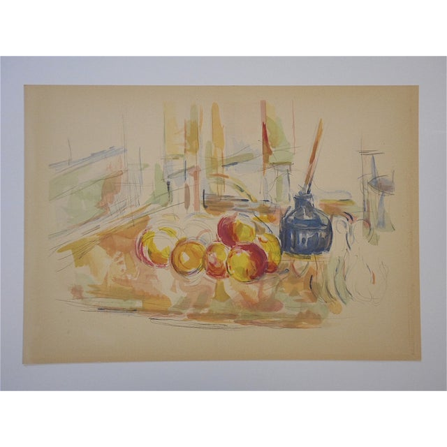 Mid-Century Modern Vintage Paul Cezanne Screenprint For Sale - Image 3 of 3