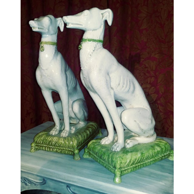 1960s Vintage Italian Whippets Statues - a Pair For Sale - Image 5 of 11