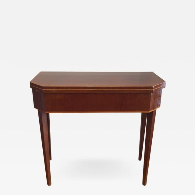 19th Century Biedermeier Mahogany Game Table For Sale - Image 9 of 9