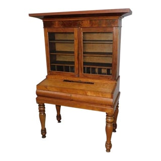 Antique Early 1800s Plantation Secretary Desk For Sale