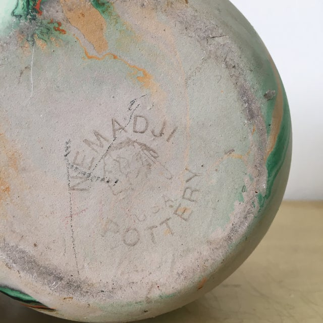 Vintage Nemadji Green Pottery Vase - Image 6 of 9