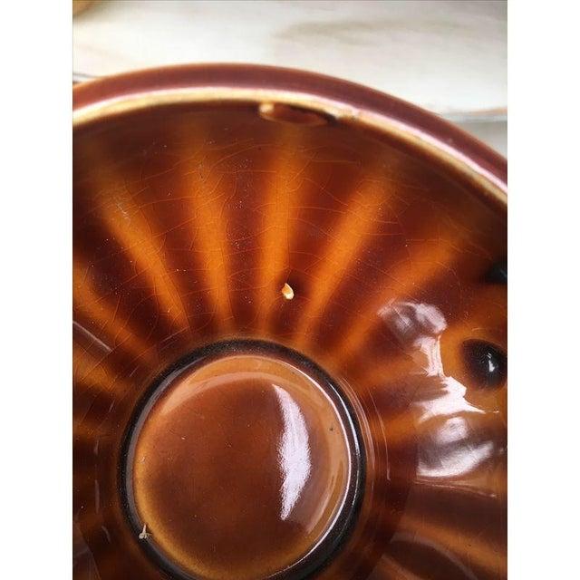Vintage Amber Pedestal Bowls - Set of 4 - Image 8 of 8