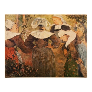 """1950s Paul Gauguin """"Breton Women"""", First Edition Post Impressionist Lithograph For Sale"""