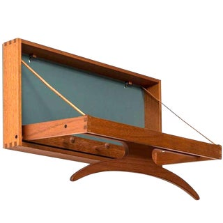 1960s Scandinavian Wall Teak Valet by Adam Hoff and Poul Ostergaard For Sale